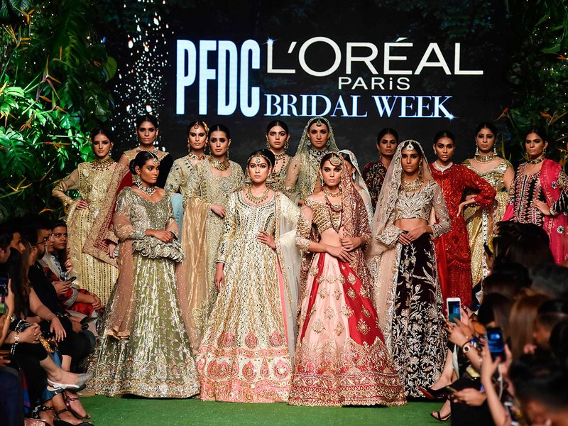 Best Ramp Walk Pictures From The Glitzy Bridal Fashion Week In Lahore Fashion Gulf News