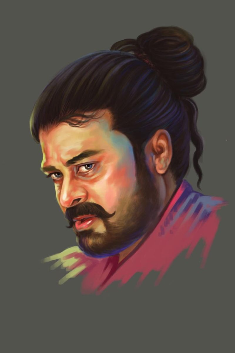 A sketch of Chiranjeevi's character.
