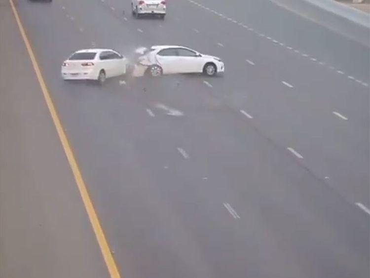 Abu Dhabi accident CCTV