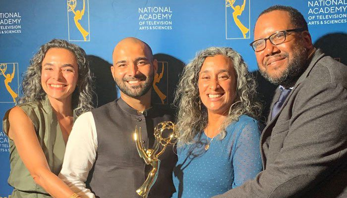 Asad Faruqi (second from left) at the Emmys-1569824289370