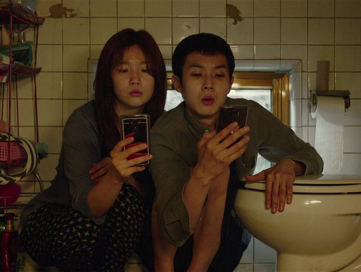 Woo-sik Choi and So-dam Park in Parasite-1569935881100