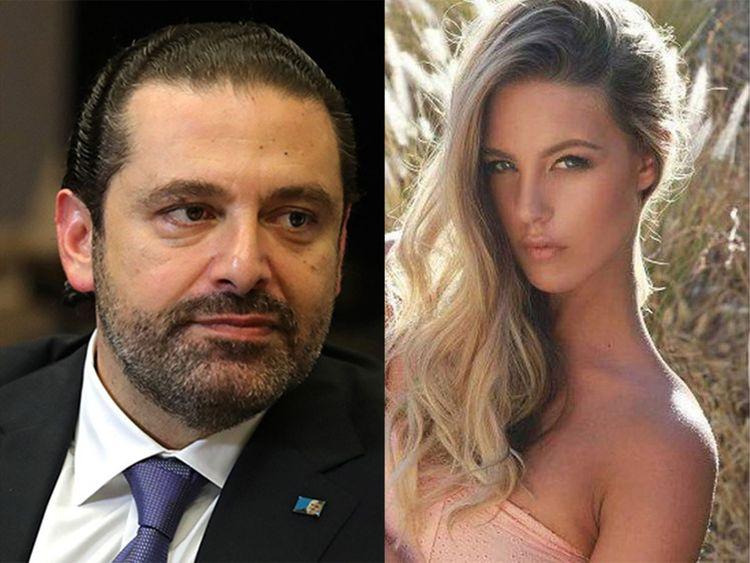 Lebanese Prime Minister Sa'ad Hariri Candice Van Der Merwe,