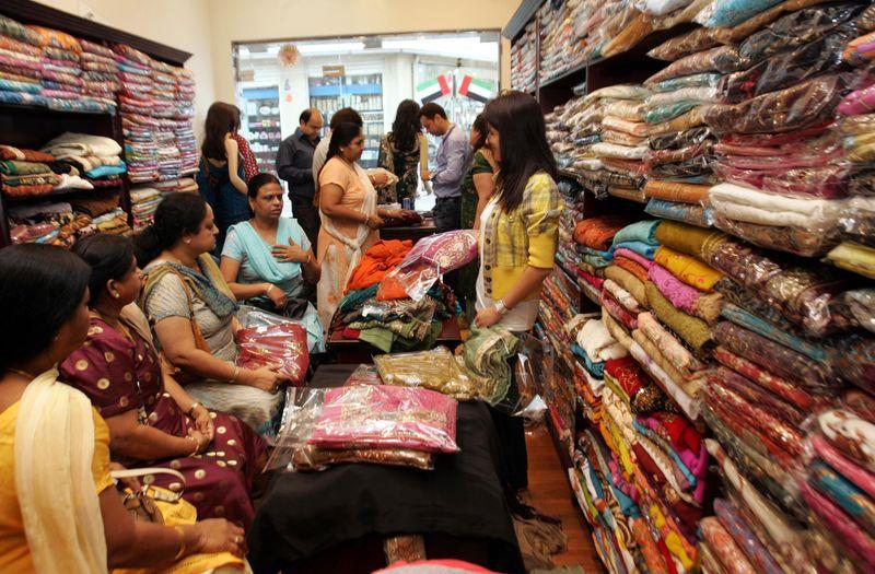 Meena Bazaar shoppers