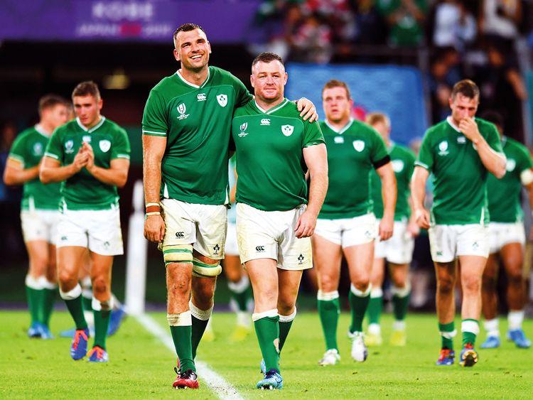 Ireland's Tadhg Beirne and Dave Kilcoyne