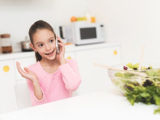 Children growing horns from cellphone use?