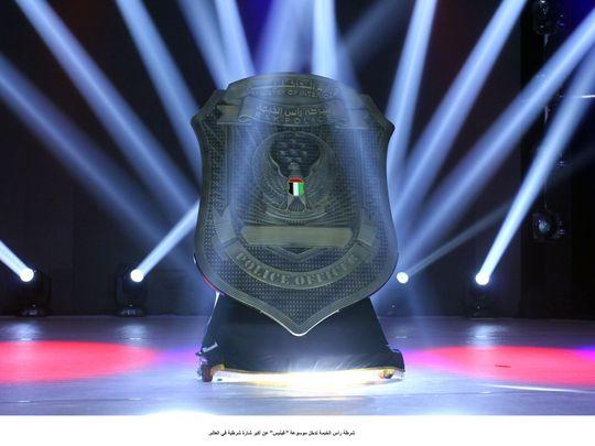 nat 191003 Ras Al Khaimah police enters Guinness World Records for biggest police identification badge2-1570115581132