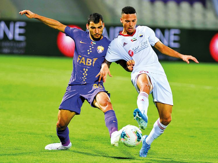 Action from the match between Al Ain and Sharjah