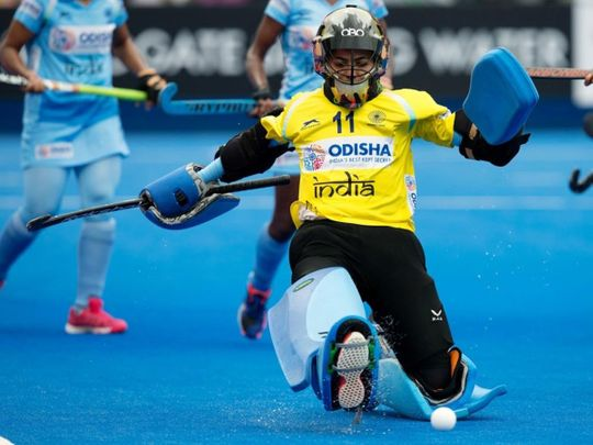 Indian women's hockey team's goalkeeper Savita