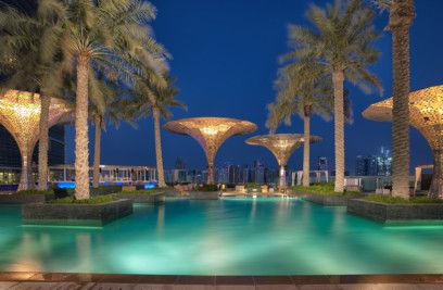 Rosewood Abu Dhabi - Pool at Dawn-1570165971868