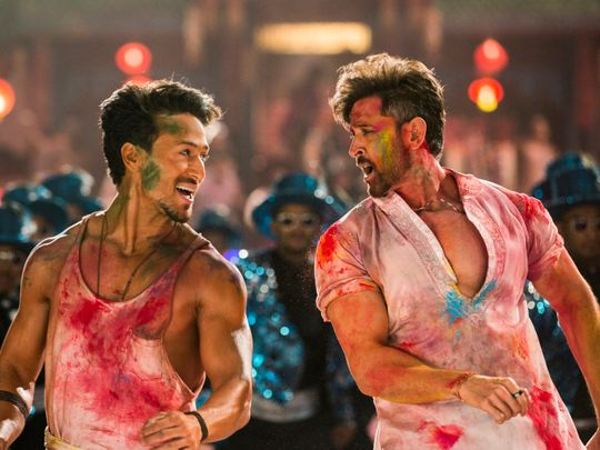 Tiger Shroff and Hrithik Roshan in War