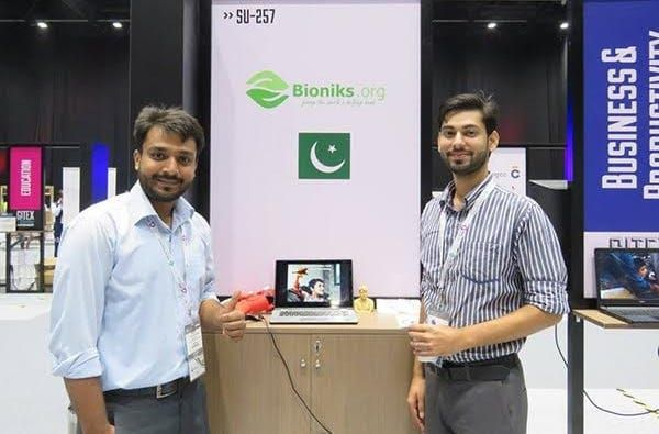 WPK 5. Team Bioniks represented Pakistan at Gitex 2016 where they received huge appreciation for their low-cost 3D-printed prosthetics. Image Credit - Bioniks-1570190987825