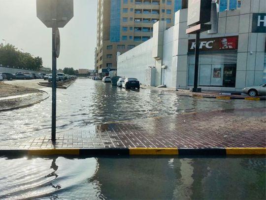 A water-logged street in Ajman 00010