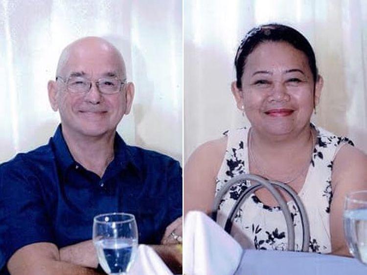 British man Allan Arthur Hyrons, 70, and his Filipina wife