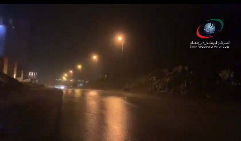Heavy rains greeted residents of the UAE