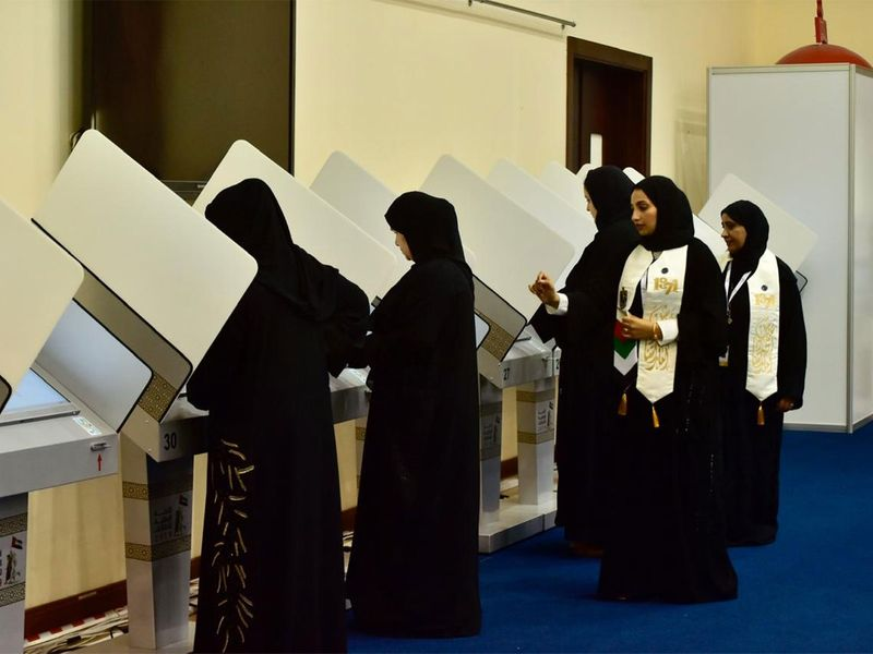 Voters FNC elections October 5 Sharjah
