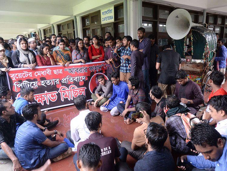 Bangladeshi students of Dhaka University