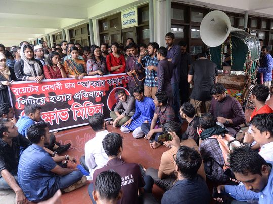 Bangladeshi students of Dhaka University