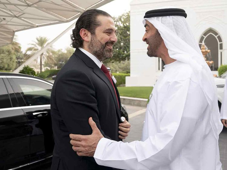 Shaikh Mohammad Bin Zayed receives Lebanese Prime Minister Saad Hariri 20191007