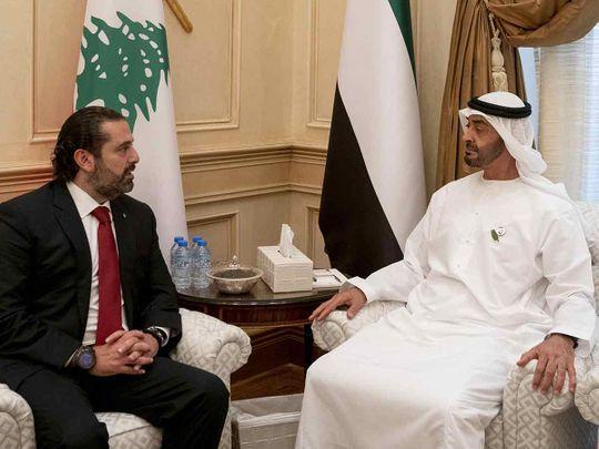 Shaikh Mohammad Bin Zayed receives Lebanese Prime Minister Saad Hariri