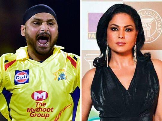 Harbhajan Singh and  Veena Malik