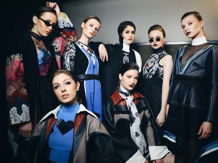 Models in looks by Hussein Bazaza.