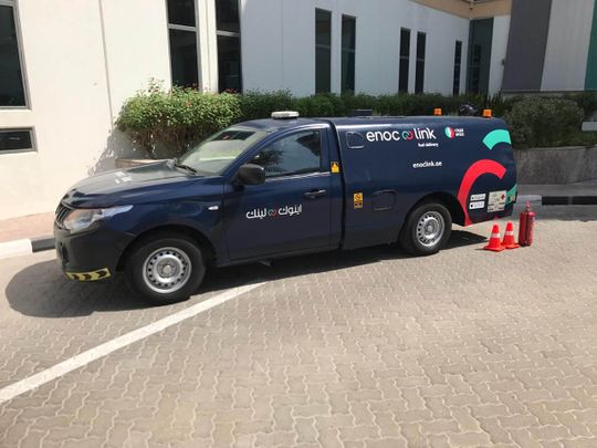 UAE's Enoc launches fuel delivery service to rival Cafu