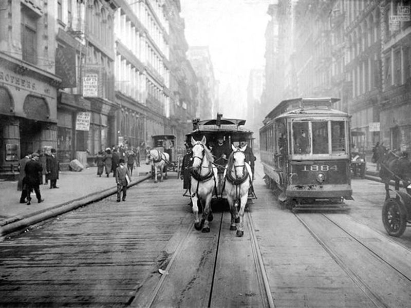 The last horse-powered trolley New York