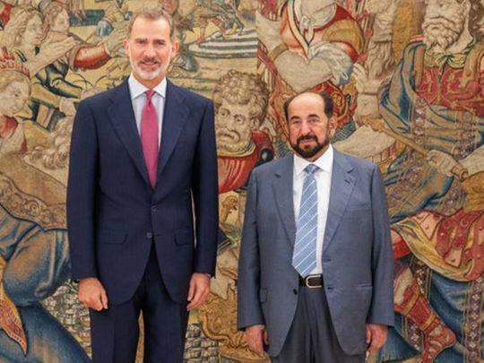 King Felipe VI of Spain with Dr. Shaikh Sultan Bin Mohammed Al Qasimi