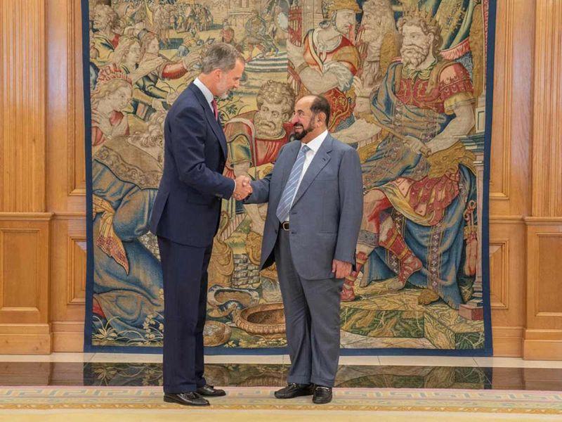 King Felipe and Shaikh Sultan