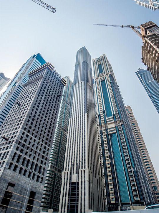 Center, The 101 Tower in Dubai Marina