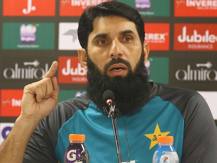 Pakistan's head coach Misbah-ul-Haq