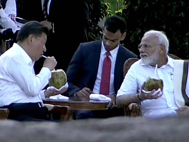 Chinese President Xi Jinping and Indian PM Narendra Modi 201910