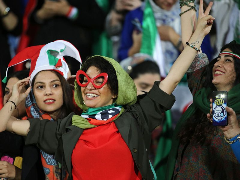 Iran Women watching football