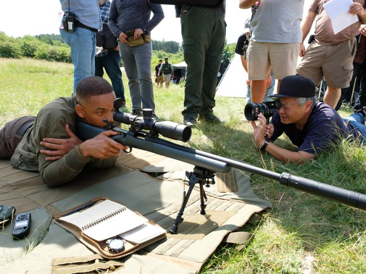 Ang Lee and Will Smith on set2-1570865512684