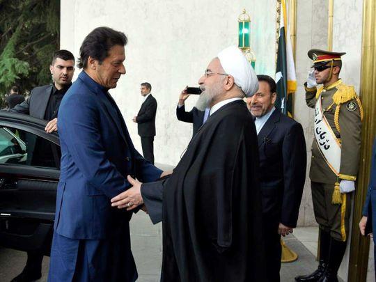 Imran Khan in Tehran