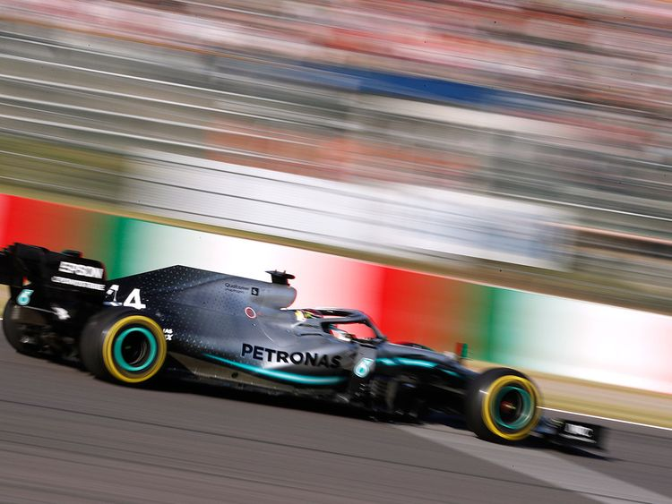 Mercedes' Lewis Hamilton Japan GP