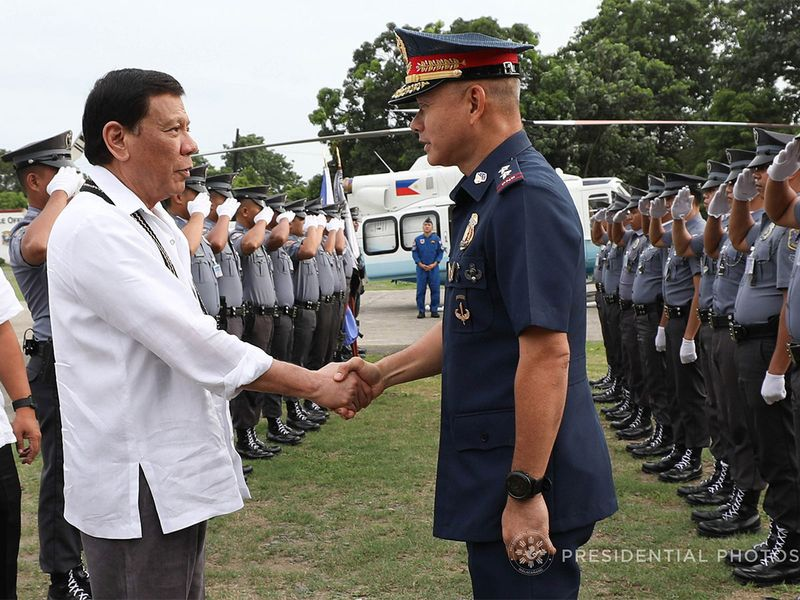 Duterte with Albayalde