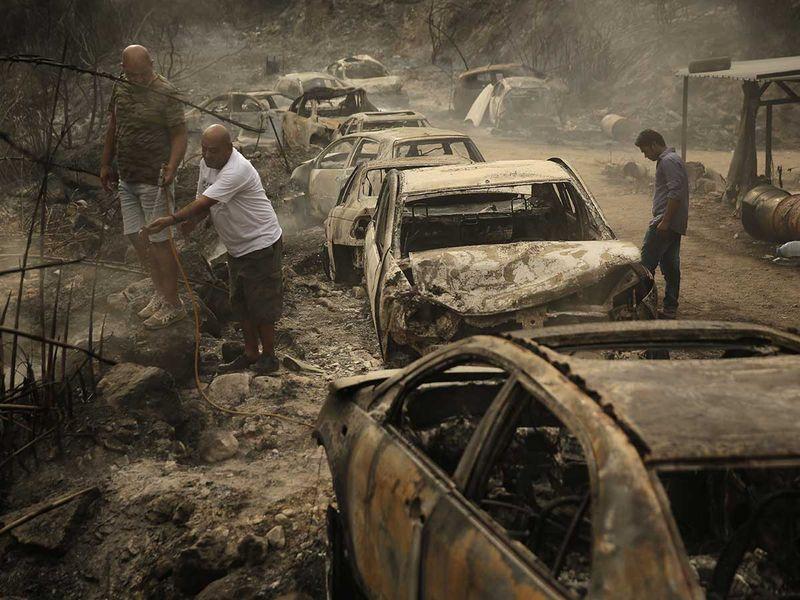 191015 lebanon forest fire
