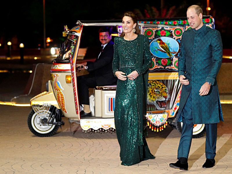 Prince William, Duke of Cambridge along with his wife Catherine (Kate)