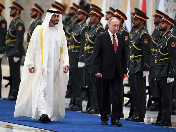 Putin Sheikh Mohamed 2019