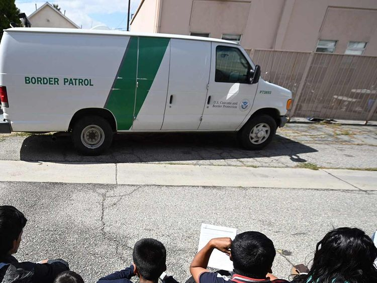 A file picture of a US Border Patrol vehicle.