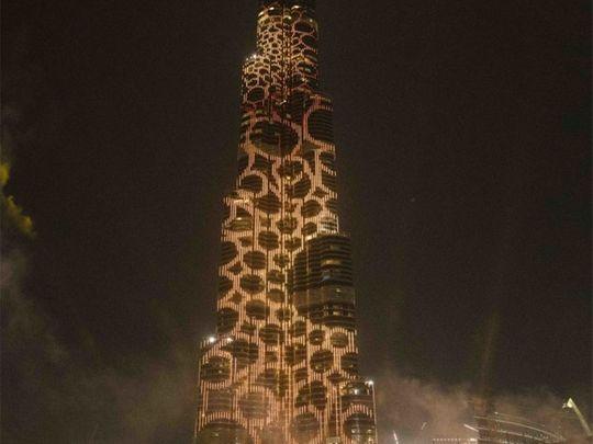 BUrj Khalifa Saruq Al Hadid gold ring