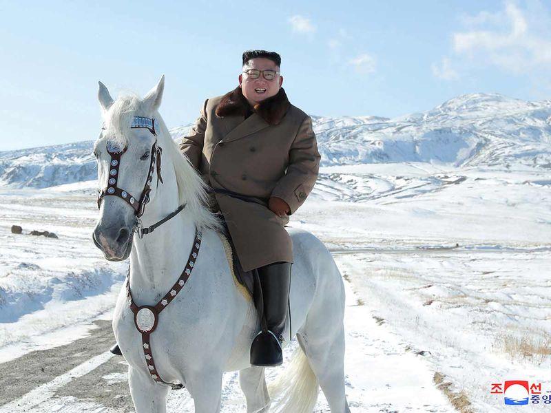 Kim Jong Un on a horse 20191016