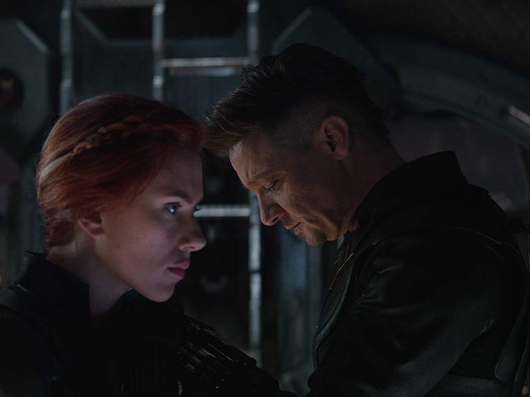 Scarlett Johansson and Jeremy Renner in Avengers Endgame-1571210807063