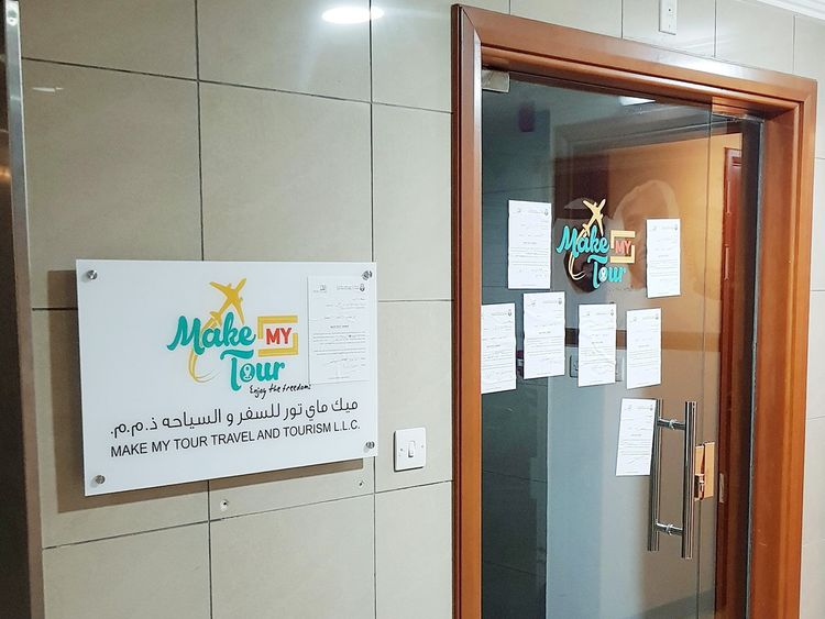 Make My Tour (MMT) company's office in Abu Dhabi.