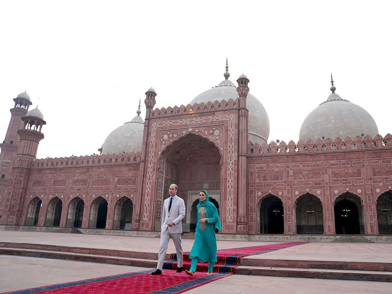 Image result for kate and william in badshahi mosque
