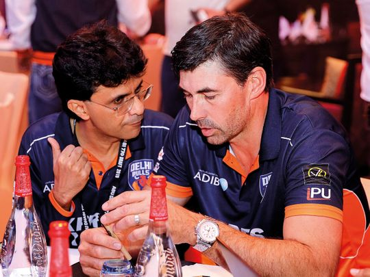 Stephen Fleming with Anis Sajan