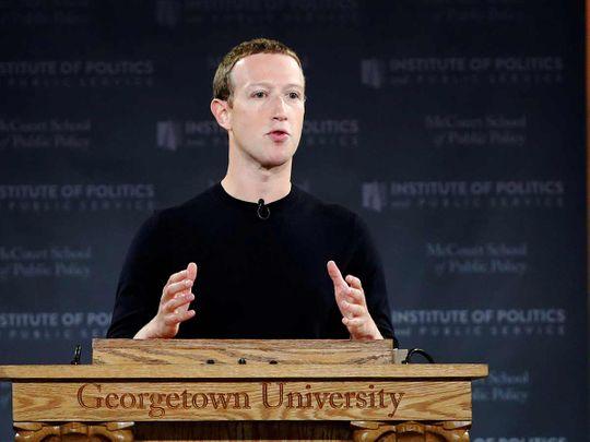 Facebook Chairman and CEO Mark Zuckerberg 20191018