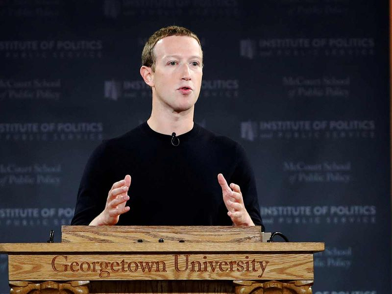 Facebook Chairman and CEO Mark Zuckerberg 20191018