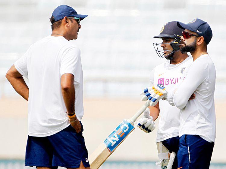 Ravi Shastri, Virat Kohli, and Rohit Sharma